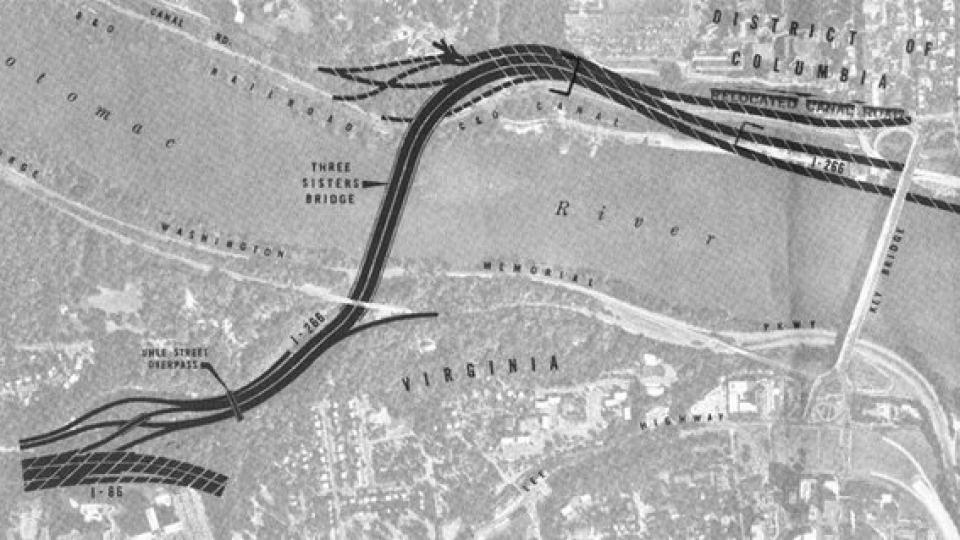 I266 three sisters bridge map